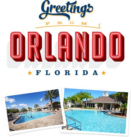Greetings From Orlando - Arte em vetor com saudações e fotografias dos Resorts
