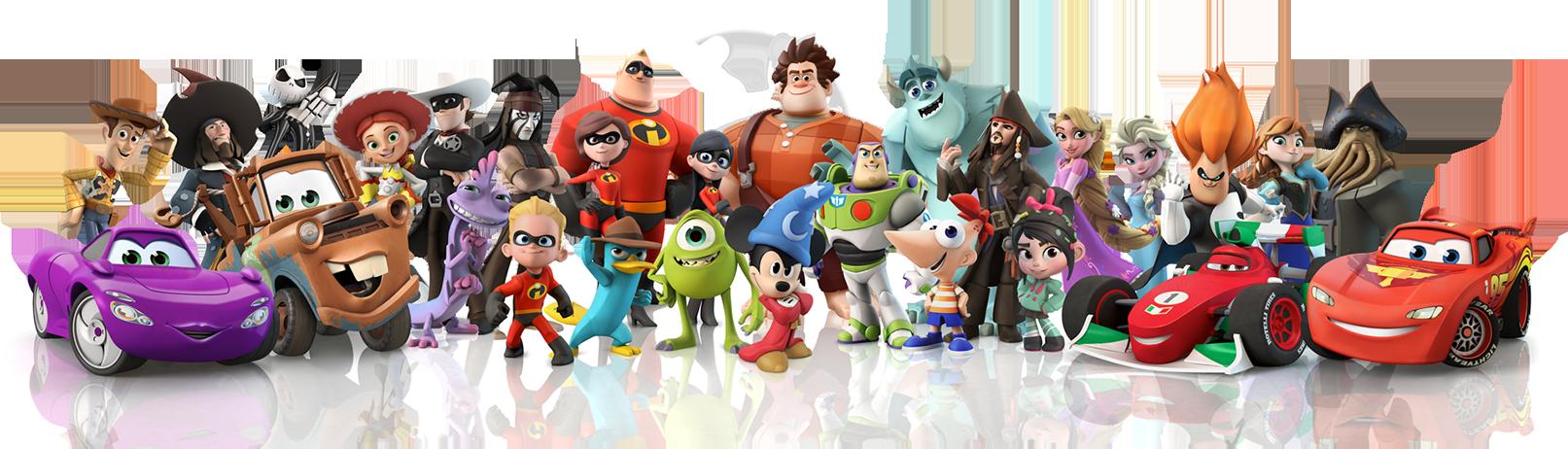 Personagens diversos de animações e filmes hollywoodianos