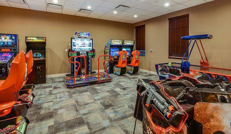Salão de jogos no Resort Windsor at Westside